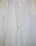 Biała mgiełka koszula koronka...