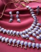 Emalia w srebrze bardzo stary orientalny komplet