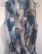 H&M kopertowa bluzka mgiełka XL