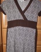Bluzka tunika we wzory wiązana
