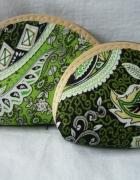 kosmetyczki małe 2szt zieleń indonezja