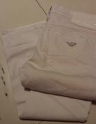 Jeansowe Spodnie Biale AJ ARMANI JEANS