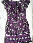 NEW LOOK fioletowa sukienka z wzorem