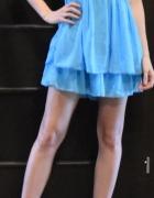 Tally Weijl zwiewna niebieska sukienka