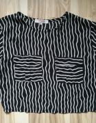 Bluzka paski kratka