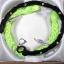 bransoletki neonowa zieleń czerń posrebrzane