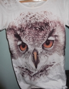 Koszulka oversize foto sowa S M