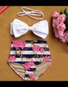 Bikini retro marynarskie kokarda