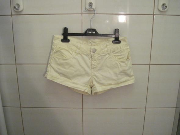 Spodenki żółte jeansowe szorty Pimkie 34