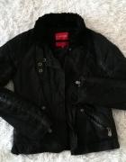 Czarna kurtka Fishbone ze skórą XS 34...