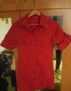 czerwona koszula traffic S
