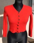 Kardigan sweter rozpinany czerwony S 36 ESPRIT
