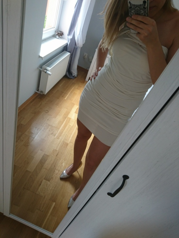 Suknie i sukienki kremowa sukienka tally weijl