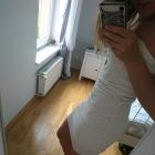 kremowa sukienka tally weijl