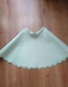 Miętowa piankowa spódnica Mohito...