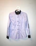 koszula w kratę fioletowa łaty 40 L Clockhouse