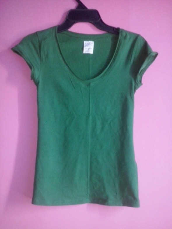 T-shirt Zielony t shirt zara