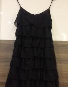 czarna sukienka falbany salsa samba rozm 36