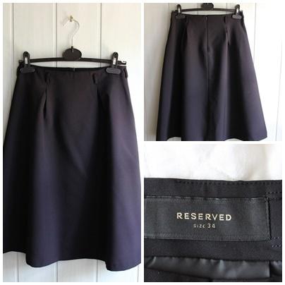 2488c676 Rozkloszowana czarna spódnica reserved w Spódnice - Szafa.pl