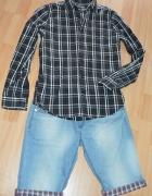 Spodenki jeansowe gratis koszula S M...