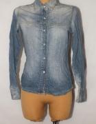 Jeans koszula jeansowa zapinana koszula Cross 38...