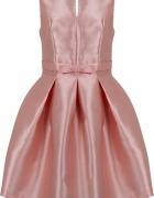 Elegancka sukienka rozkloszowana z kokardką...