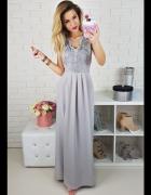 piękna szara sukienka dla druhny
