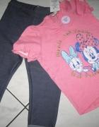 F&F komplet spodnie i bluzka dziewczynka r 92...