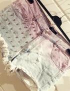 szorty jeansowe wysoki stan Bik Bok L tumblr