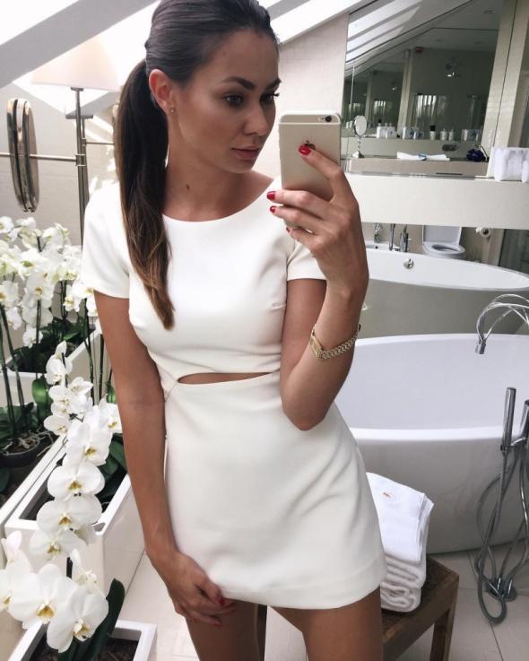 Ubrania Sukienka Zara biała