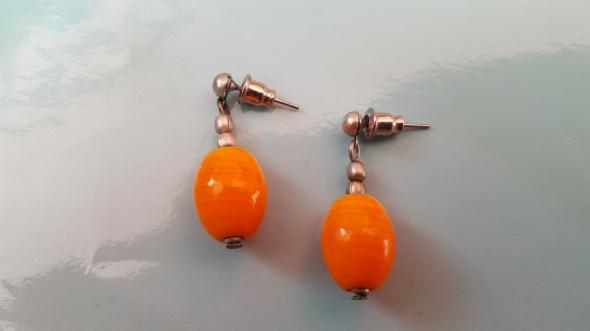 Kolczyki Pomarańczowe wiszące kolczyki