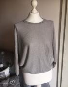 Mohito szary sweterek nietoperz z srebrną nitką...