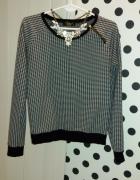 bluza w pepitkę M zamek zip...