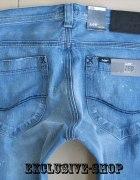 Lee ZED Slim Zip niebieskie rurki W30 L34 pas 80...