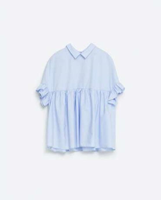 Ubrania Bluzka koszulowa ZARA baby blue XS