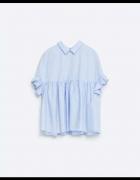 Bluzka koszulowa ZARA baby blue XS