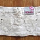 Śliczna biała jeansowa mini spódniczka M
