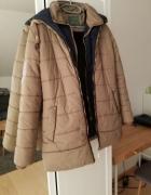 Beżowa kurtka zimowa rozmiar M