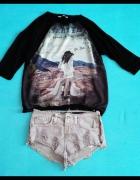 Modna bluza z nadrukiem M...