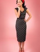 sukienka w groszkisatyna styl pin up girll