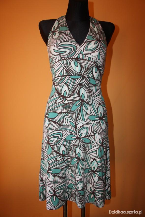 Suknie i sukienki sukienka we wzory