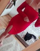 czerwona sukienka z rozporkiem mega sexy Xs S