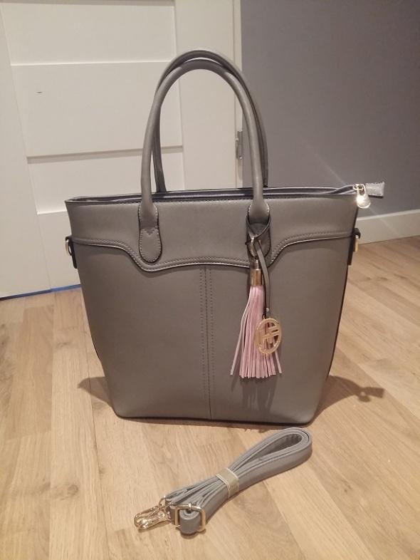 5b1291ca3e099 Torebki na co dzień nowa shopper bag szara różowy chwost zara styl HIT