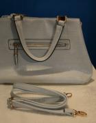 Błękitna torba do ręki na ramię duża modna new loo