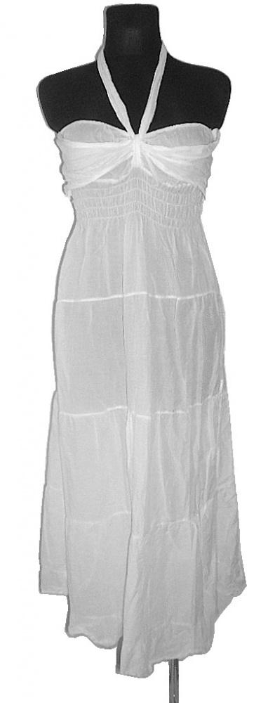NEW LOOK biała sukienka letnia falbany r 38...