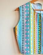 krótki top azteckie wzory boho festiwal crop t