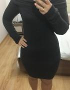 Dzianinowa grafitowa sukienka Reserved l
