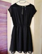 sukienka w cekiny z koronką stravidarius rozmiar M...