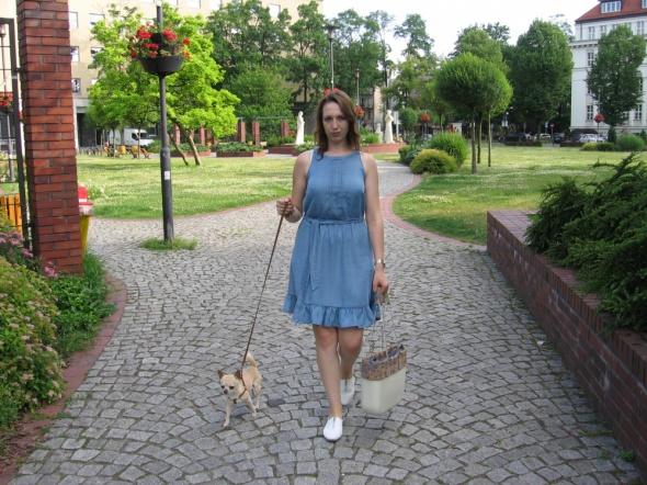 Blogerek Jeansowa sukienka