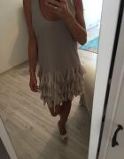 Kremowa lekka sukienka